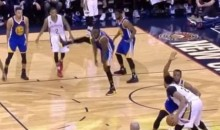 Draymond Green Is Still Kicking Anyone Who Gets Near Him (Video)