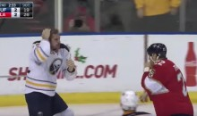 Marcus Foligno Makes Some Time to Fix His Hair During a Fight Against Shawn Thornton (Video and Tweets)