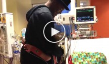 Cam Newton Visits a Young Auburn Fan Battling a Heart Condition Whose Wish Was to Meet Him (Video)