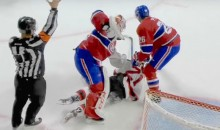 Goalie Rage! Habs' Carey Price Beats Snot Out of Devils' Palmieri with His Blocker (Video)