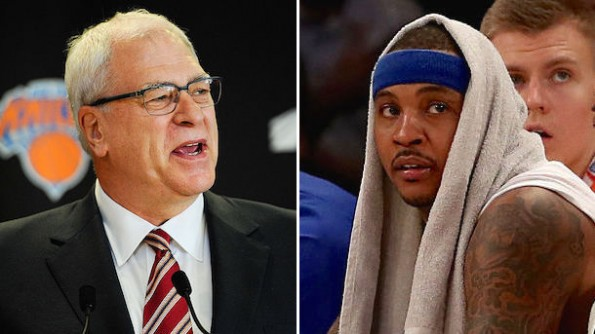 Carmelo Anthony Phil Jackson