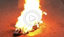 San Diego Chargers Fan Ends His Fandom With The Team, Burns His Jersey (Video)