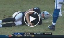 Derek Carr Had To Be Helped Off The Field With a Leg Injury; Says 'It's Broken' (Video)