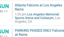 7-9 Bullsh*t: Los Angeles Rams Tickets Are Selling For $9.99; Parking Passes Cost Way More