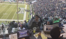 Philadelphia Eagles Fan Heckles The Press After Team Scores TD (Video)
