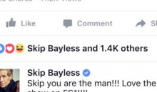 Skip Bayless Caught Praising Himself on Facebook