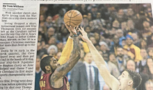 Cleveland Paper Trolls Warriors With 3-1 Joke After Kyrie Game Winner (PIC)
