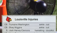 Louisville Has 2 Players Missing Citrus Bowl Due to Gunshot Wounds (PIC)