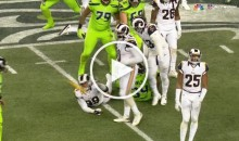 Rams DE Aaron Donald Throws Penalty Flag Back at Referee (Video)