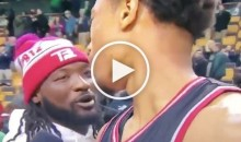 LeGarrette Blount Interrupts DeRozan's Interview to Tell Him He 'F*cks With Him' (Video)