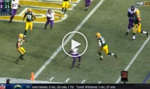 Packers QB Aaron Rodgers Breaks Some Ankles & Rushes For TD (Video)