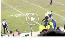 Chiefs Security Guard Superman Tackles a Fan Who Ran Out On The Field During Game (Video)