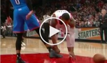 Salty Russell Westbrook Kicks Ball Out Of Damian Lillard's Hand (Video)