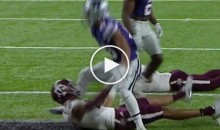 Kansas State Player Gets Punched In The Crotch After Tea-bagging A&M WR (Video)