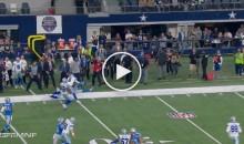 Cowboys Punter Chris Jones Lowers The Boom on Lions Kick Returner (Video)