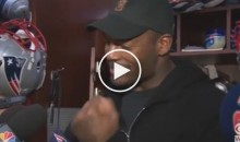 Pats TE Martellus Bennett Goes on Rant About 'Bacon'; Says it Over 30 Times (Video)