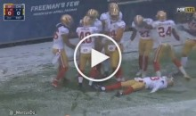 49ers Get Flagged For Snow Angel Celebration For a TD That Didn't Even Count (Video)
