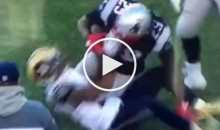 Pats RB LeGarrette Blount Gets his Facemask Violently Yanked by Rams Defender; No Flag (Video)