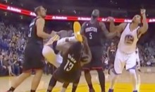 Draymond Green Kicks James Harden in the Face (Video)