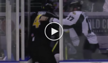 ECHL Players Start Fighting Inside Penalty Box (Video)