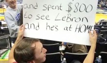 Fan Spends $800 to See LeBron James Play Only for Cavs to Give Him the Night Off (Pic)