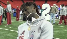 Bama's DB Harrison Tells Female Reporter About Nick Saban's 'Put Your D*ck In His Hip' Defensive Strategy (Video)
