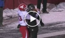 Youngstown State WR Catches Game Winning Pass on Defender's Back (Video)