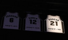 San Antonio Spurs Retire Tim Duncan's Number, Duncan Actually Speaks in Public for Four Minutes! (Videos)