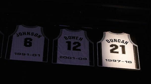 Tim Duncan jersey retirement