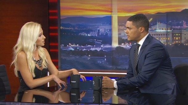 tomi-lahren-and-trevor-noah-debate-colin-kaepernick-on-daily-show