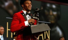 Lamar Jackson Rocked An $86 Macy's Suit Jacket At Saturday's Heisman Ceremony
