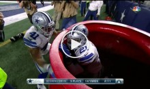 Ezekiel Elliott Jumps in Salvation Army Kettle After Scoring TD (Video)
