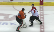 Not Only Do These ECHL Goalies Fight, But One Gets Knocked Out (Video)