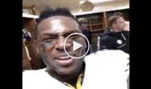 "Antonio Brown Records Mike Tomlin Calling Patriots ""A**holes"" During Postgame Speech (VIdeo)"