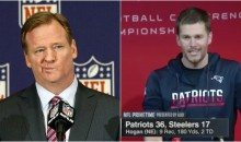 Roger Goodell is Watching: Excited Brady Curses During Live Press Conference (Video)