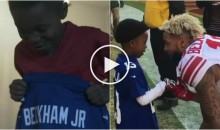Odell Beckham Jr. Meets Kid Who Ripped Kaepernick Jersey Off to Put His On For Christmas (Video)