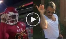 Travis Kelce Does 'Salt Bae' TD Celebration at Pro Bowl (Video)