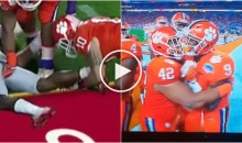 Clemson Player That Grabbed OSU Player's Privates, Dry-Humped His Teammate as Well (Video)