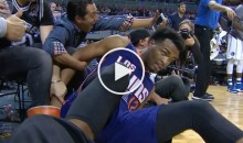 Fan Grabs Hold of Suns' T.J. Warren In An Attempt To Get a Selfie (Video)