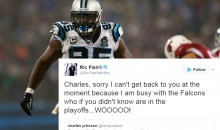 Panthers' Charles Johnson & Ric Flair Throw Shots at Each Other Over Falcons Support
