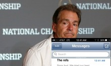 Nick Saban's Text Messages Revealed After Losing National Championship Game (PIC)