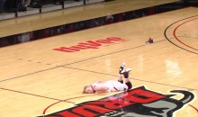 Hilarious FAIL: Female DII Basketball Player Can't Stand Up, Keeps Falling (Video)