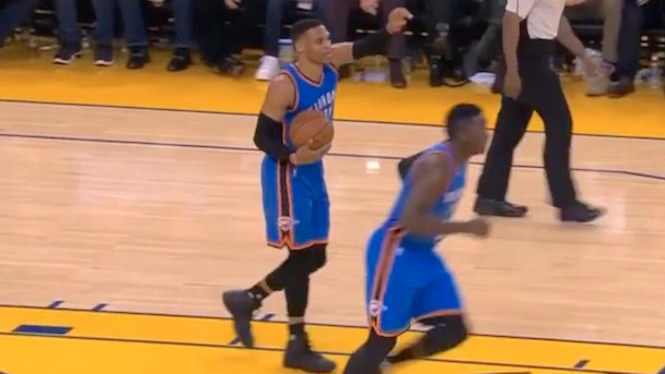 Russell Westbrook Gets Whistled For Most Ridiculous Travel Of All Time