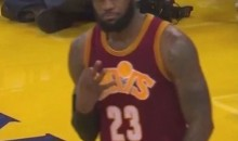 LeBron James Responds to Warriors Heckler By Counting Championship Rings (Video)