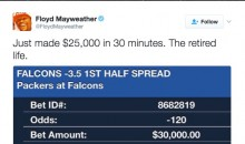 Floyd Mayweather Won $248,000 By Placing One Sports Bet Per Day for 4 Days