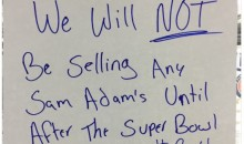 Atlanta Gas Station Won't Be Selling Sam Adams Beer Until After the Super Bowl (Tweet)