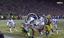 He Did It Again: Aaron Rodgers With a Hail Mary to End The Half (Video)