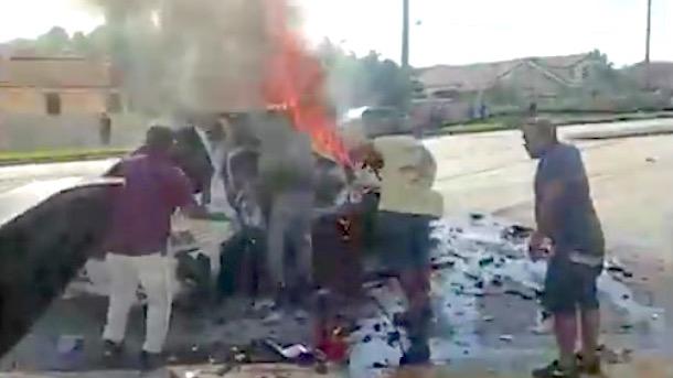 atlanta braves infielder sean rodriguez terrifying car crash miami