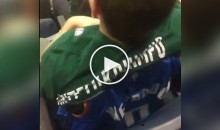 Bandwagon Fan Puts On a Giannis Shirt Over Westbrook Jersey After Big Block (Video)