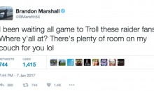 Broncos LB Brandon Marshall & Fans Troll Raiders Fans After Playoff Loss (TWEETS)